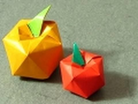 Яблоко оригами. Видео схема.