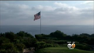Donald Trump Fights To Keep Large American Flag Flying At Golf Course