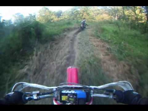 Honda CR250 & 2004 Yamaha YZ250F Theilman Minnesota Enduro Trail Ride Fall 2009 - Video 7 Video