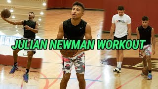 Julian Newman Prepares To Play LAMELO BALL Tomorrow! Full Workout With DJ Sackmann 🔥