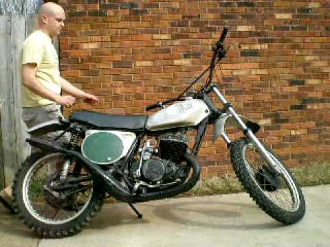 1973 Honda CR250M Elsinore start up and idle