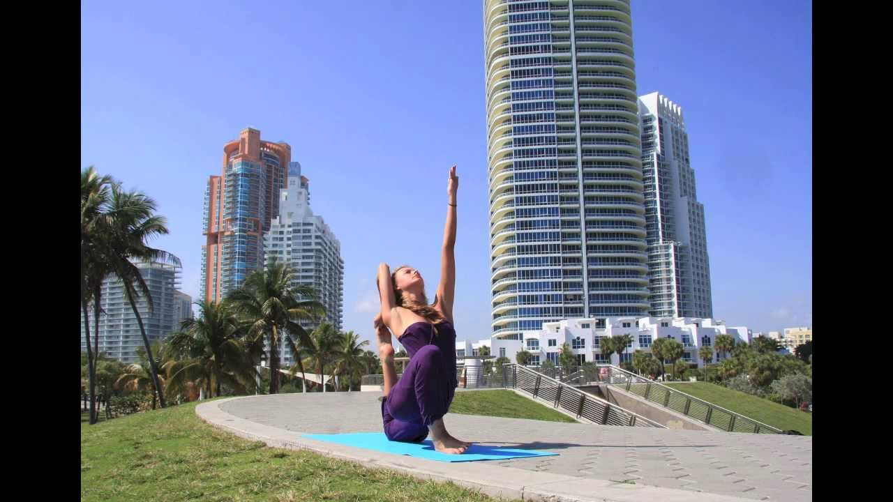 Yoga on The Beach South Beach Yoga Photo Shoot in South