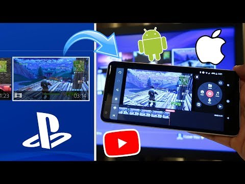 How to EDIT PS4 Videos on your PHONE! (UPLOAD TO YOUTUBE) (WORKS WITH ANDROID AND iOS) (EASY) 2018