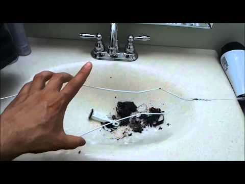 How to unclog a bathroom sink drain how to save money for How to unclog a sink