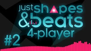 Just Shapes & Beats - #2 - MUSICAL PIRATE SHIP?! (4 Player Gameplay)