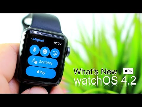 WatchOS 4.2 What's New ?