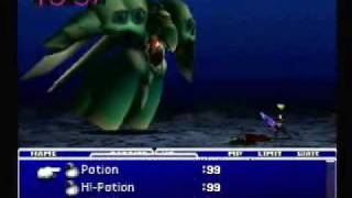 Final Fantasy VII Emerald Weapon Dead Cloud Solo!
