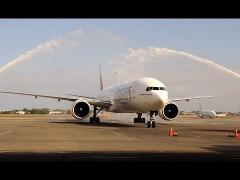Emirates' Dubai-Cebu-Clark-Dubai inaugural flight launching