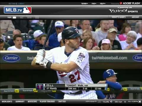 JB - Foul Catch on ESPN - Rangers vs. Twins 5/30/2010