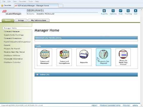 This SBS training demo of ADP's paydata integration with ezLaborManager is designed for Administrators who will be accessing ezLaborManager to 'Prepare for Payroll' by checking employee...
