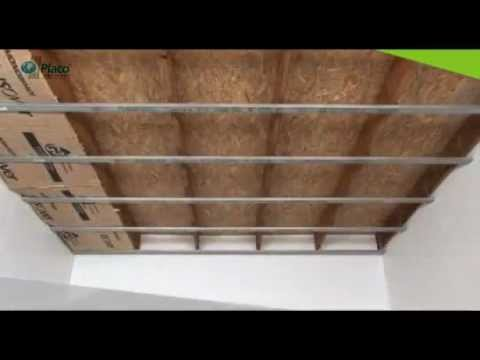 Pose placo faire un faux plafond avec placo baticotravaux youtube - Montage plafond suspendu placo ...