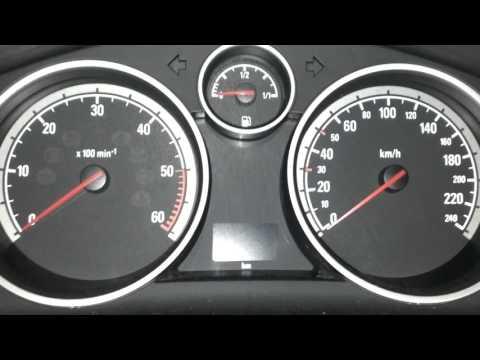 Opel Zafira B (2005) 1.9 CDTI , cold start -16,5'C
