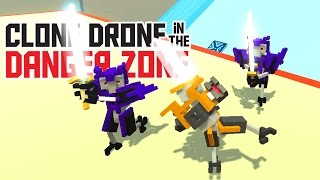 Kick and Defense Only Challenge! - Clone Drone in the Danger Zone Alpha Gameplay - Funny Moments