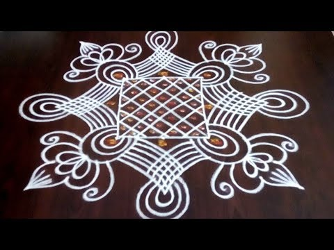 Beautiful Latest Friday Rangoli Design ||  Simple Friday Muggulu  || Fashion World