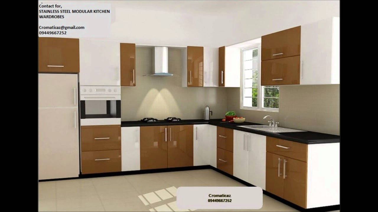 Stainless Steel Finish Acrylic Bangalore Modular Kitchens Youtube