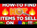 Niche Research - How to Find HOT Items To Sell on eBay using Google