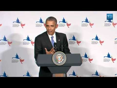 Obama Post-Cuba Meeting News Conference - Full Video