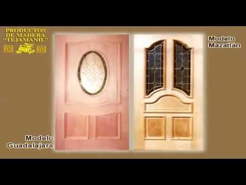 Fabrica de puertas de madera tejamanil for Catalogo de puertas de madera