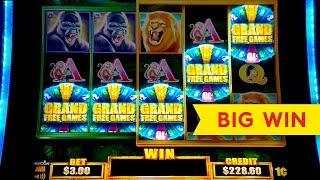 Tarzan Grand Slot - 5 SYMBOL TRIGGER - BIG WIN BONUS!