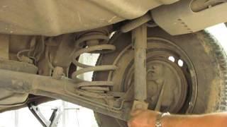 Замена задних амортизаторов на ланосе