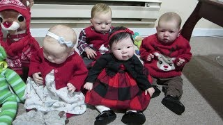 Reborn Babies Dressed for Christmas - Doll Break Ep. 879