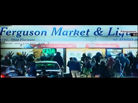 FERGUSON HOAX: LOOTERS ALLOWED TO LOOT FREELY AFTER GRAND JURY. POLICE NOT ARRESTING THEM.