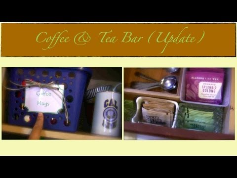 Our Coffee & Tea Bar Organization (update) {how To Organize} video