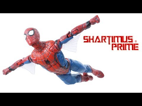 Marvel Legends Spider-Man Tech Suit Web Wing Homecoming Movie Vulture BAF Wave Figure Toy Review thumbnail