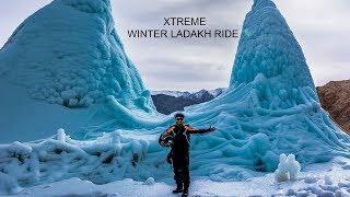 LADAKH WINTER RIDE | ICE STUPA | Xtreme winter Ladakh ride | Leh | EP- 1