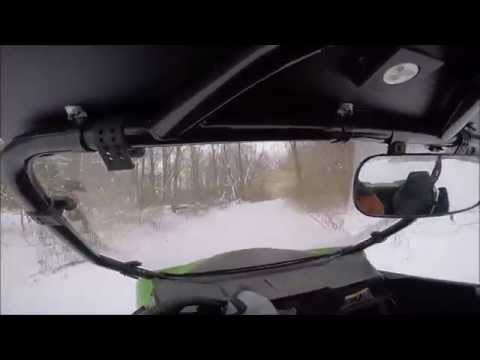 Arctic Cat Wildcat Trail - Winter Riding in the Subdivision
