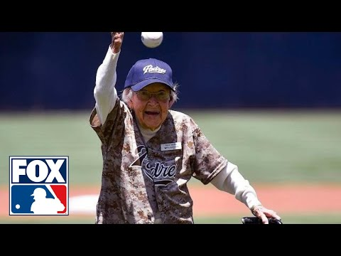105-year-old throws better first pitch than 50 Cent