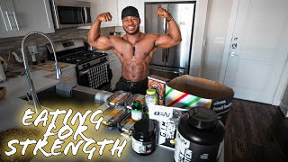 What A Powerlifter's Diet Looks Like | Full Day Of Eating