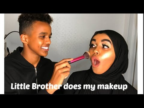 MY BROTHER DOES MY MAKEUP| SOMALI EDITION |Edna Abdiasis thumbnail