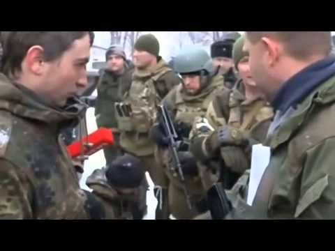Lugansk region,The militia captured the Ukrainian Army Special Forces soldiers 18.02.2015 Ukraine Wa