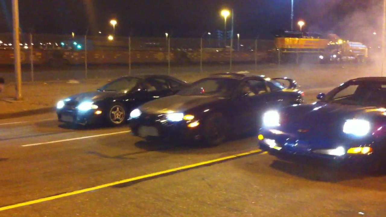 Illegal Street Racing In Oakland Dsm Vs Corvette Youtube