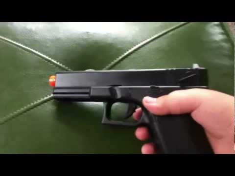 The review of the airsoft jls glock G18c electric blowback gun