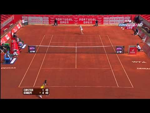 Kaia Kanepi VS Sorana Cirstea Portugal Open 2013 2nd round