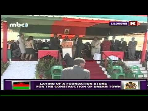 Joyce Banda Speech - Foundation  Stone for MHC Houses, July 2013
