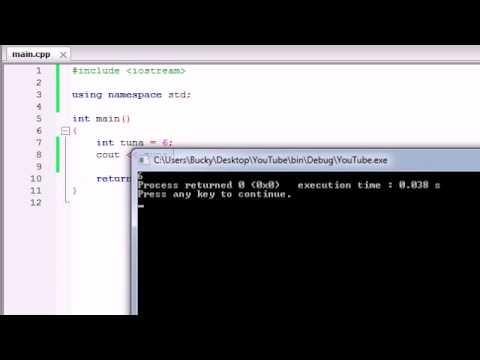 Buckys C++ Programming Tutorials   4   Variables