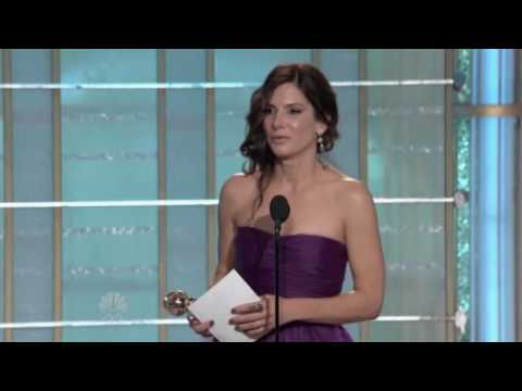 Sandra Bullock wins a Golden Globe for 'The Blind Side'! - 2010