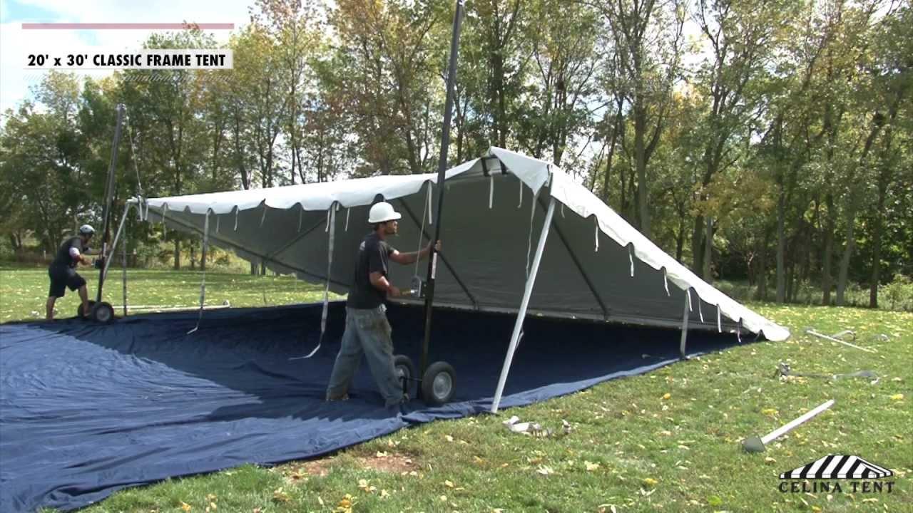 20 x 30 classic frame tent installation procedure youtube. Black Bedroom Furniture Sets. Home Design Ideas