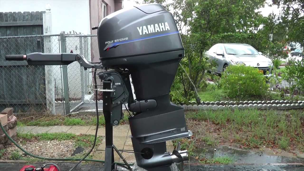 2000 yamaha 40hp tiller outboard motor low hours youtube for How to raise outboard motor