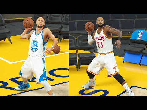 Stephen Curry VS LeBron James Full Court Shots - Who Can Make a Full Court Shot First? NBA 2K17