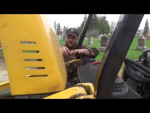 Driveway building and loader pin extraction