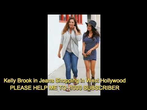 Kelly Brook in Jeans Shopping in West Hollywood thumbnail