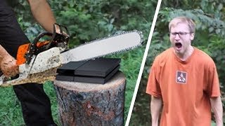 Dads Destroying Sons\' Playstations!