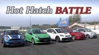 [ENG CC] Hot Hatch Battle 2010 - Civic R, Clio RS, Colt R, Cooper S, Abarth 500 Tsukuba