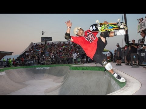 Steve Caballero 3rd Place Run - Dew Tour Ocean City Legends Skate Bowl