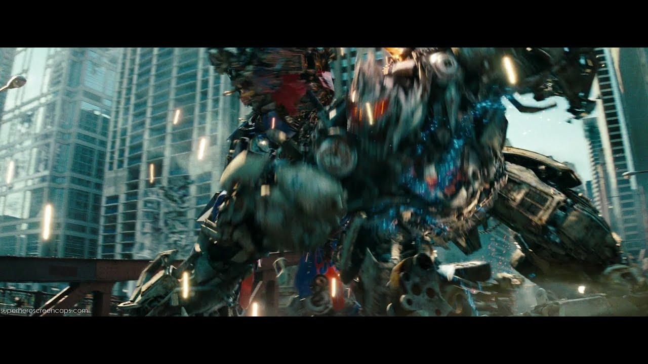 Transformers dark of the moon Optimus prime vs Sentinel ...