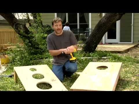 How to Make a Bean Bag Toss. Daddy DIY - Video